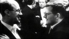 Mstislaw Rostropowitsch und Dmitri Schostakowitsch