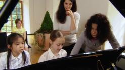 Katia und Marielle Labèque mit Tanja und Katharina